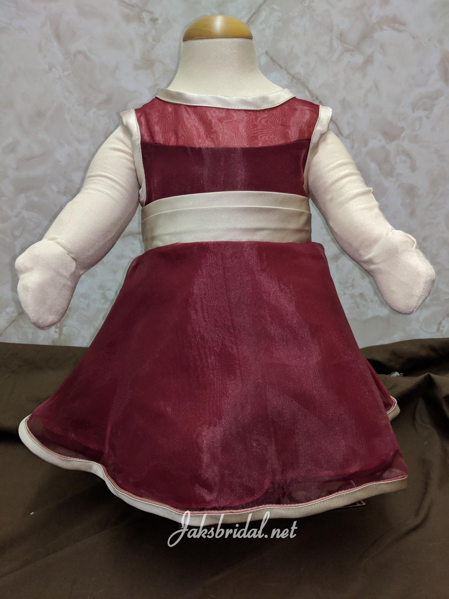 Red And White Flower Girl Dresses