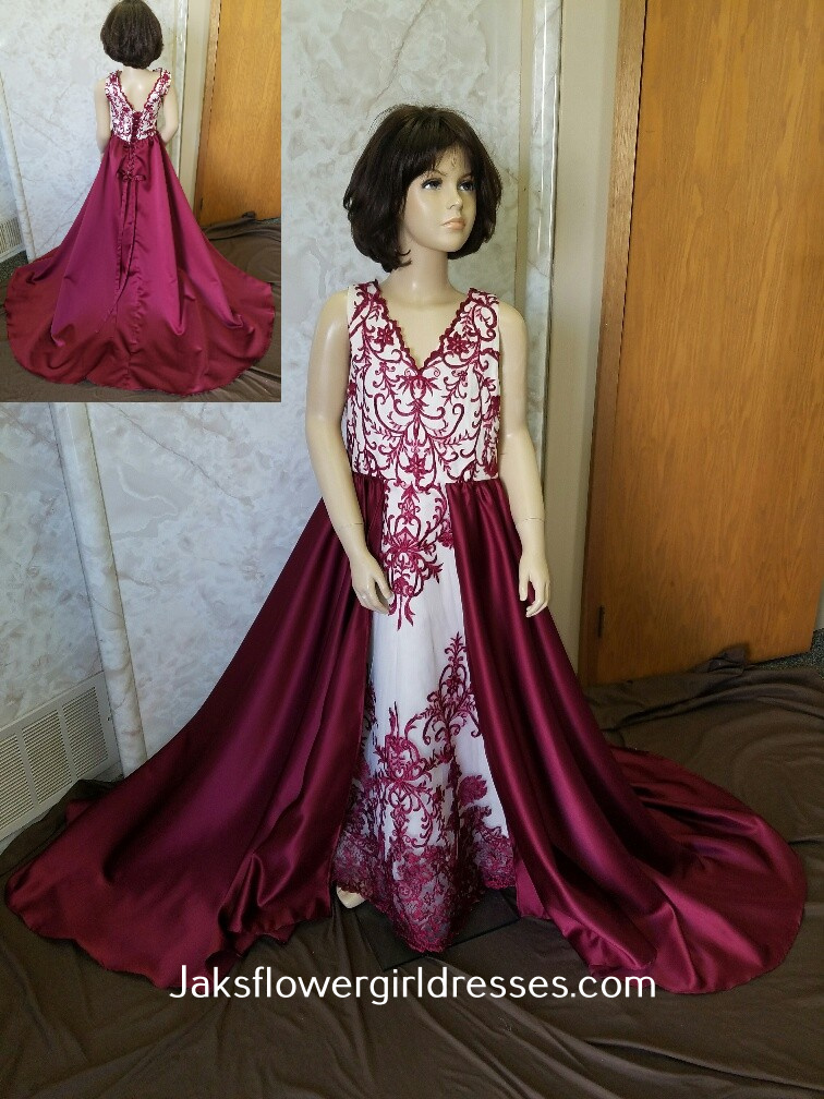 miniature merlot brides dress