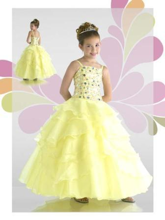 ruffle tiered organza little girl pageant dress