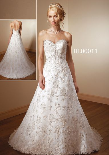 Wedding dresses: all over lace wedding dress