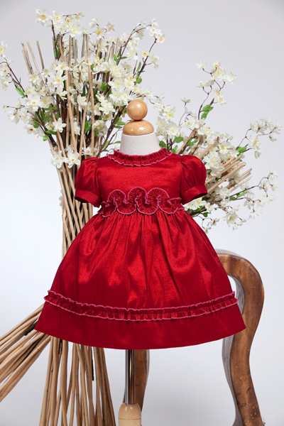 Baby Girls Red christmas Dress.