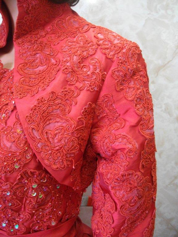 red mother of the bride jacket