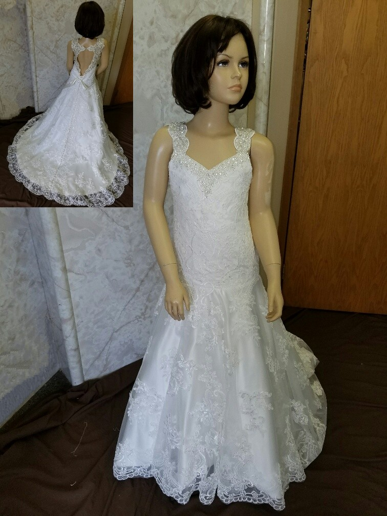 e0823b13fa0 ... organza mermaid flower girl dress · Fit and Flare Flower girl dress  with train ...