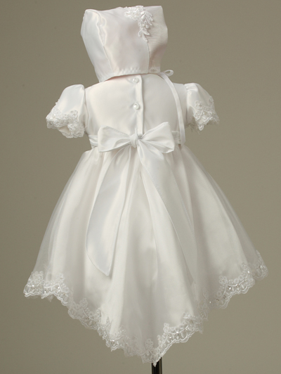 Baptism Dresses on Christening Baptism Dress With Train
