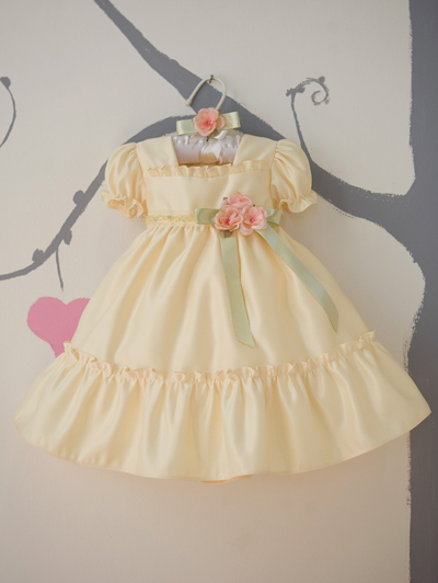 Yellow ruffle dress toddler