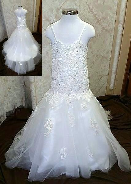 White junior bride dresses