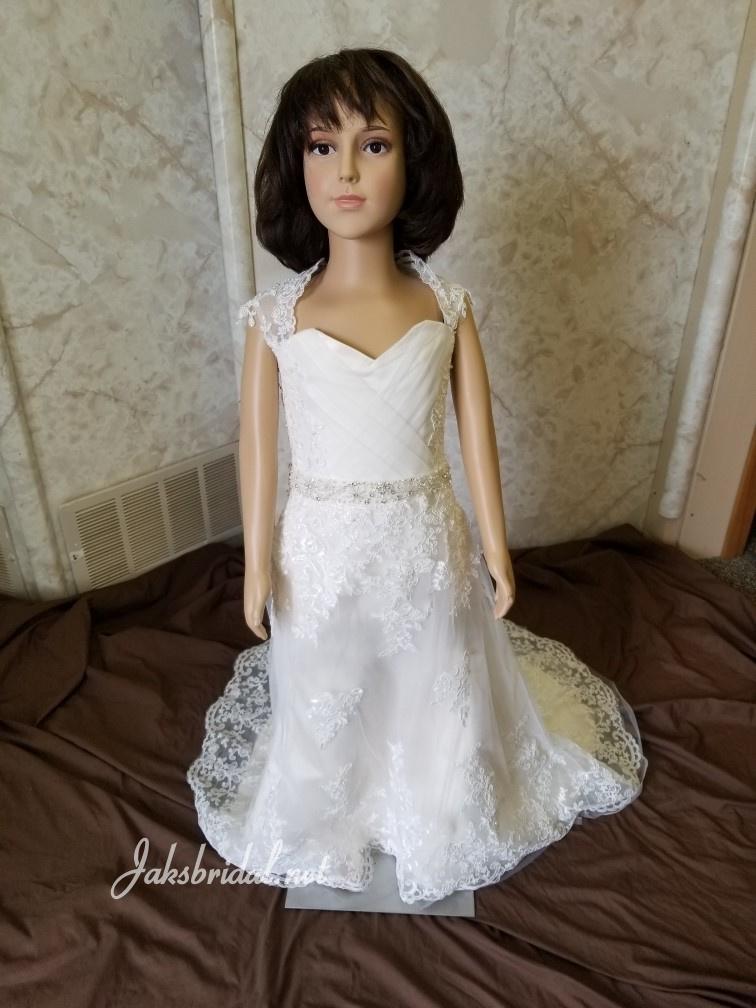 e419b32841e ... flower girl dress with lace train
