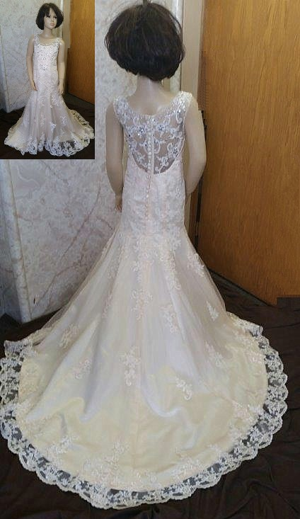 83538ef6f ... fit and flare dress lace miniature bride dress, tiered layered flower  girl ...
