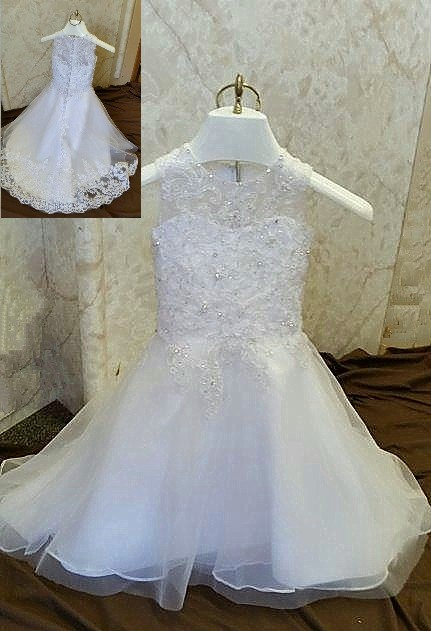 8008f9f0c Infant wedding flower girl dress.