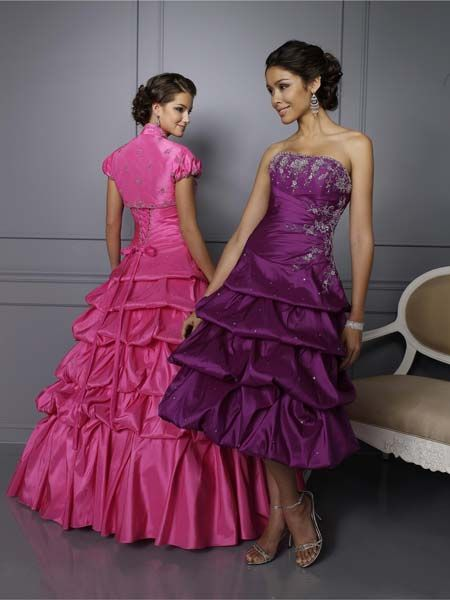 purple prom dress with jacket included