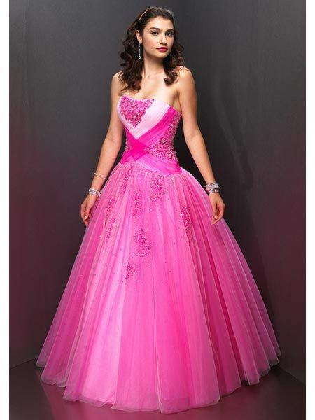 pink Pageant Ball Gown