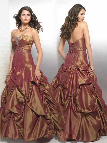 quinceanera copper dress