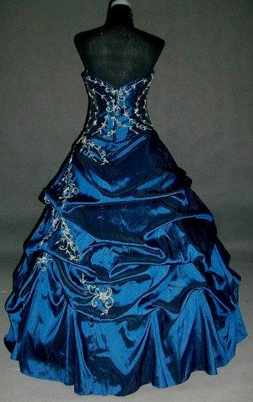 royal blue junior strapless formal