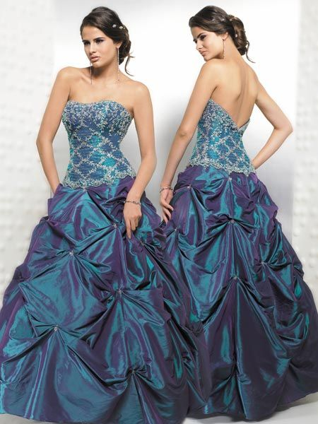 Teal Quinceanera Ball gowns