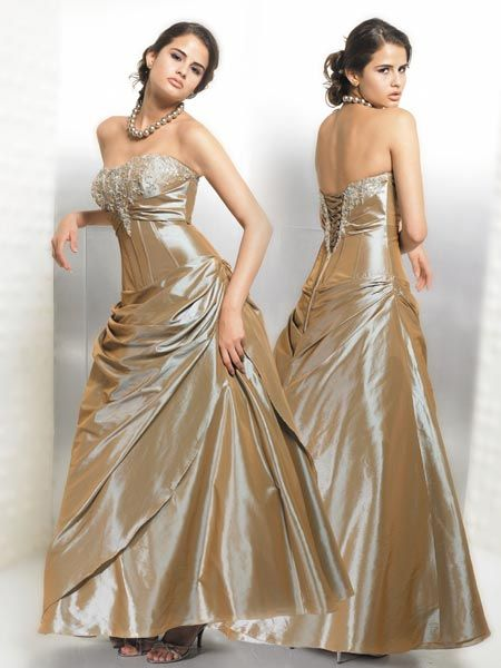 shimmering ball gown