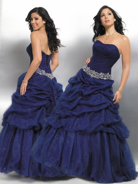 navy blue Quinceanera Ball gowns