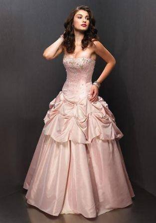 beaded, sequined pageant dress