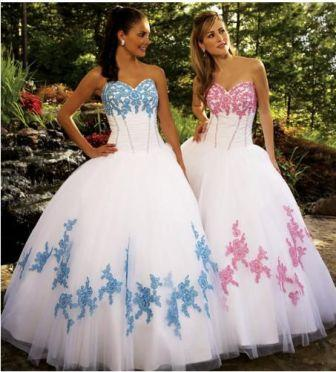 white cotillion dresses