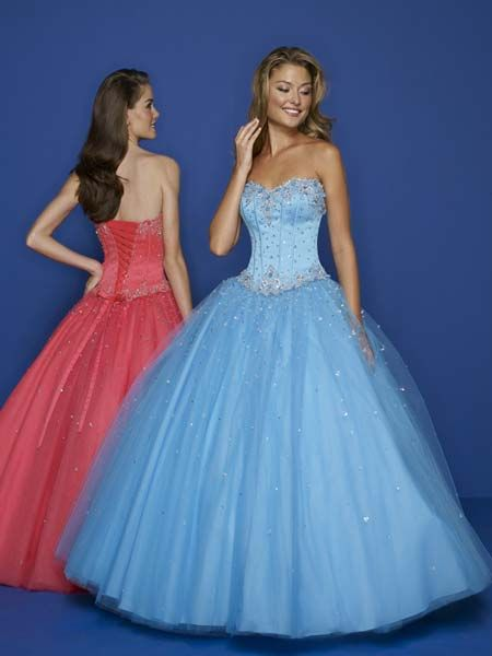 blue corset ball gown