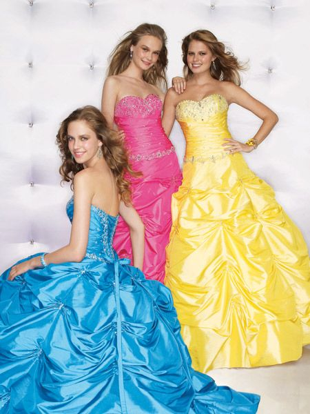Bright color 2010 prom dresses