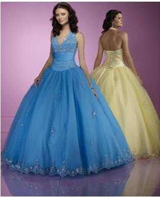 yellow prom dress halter neck