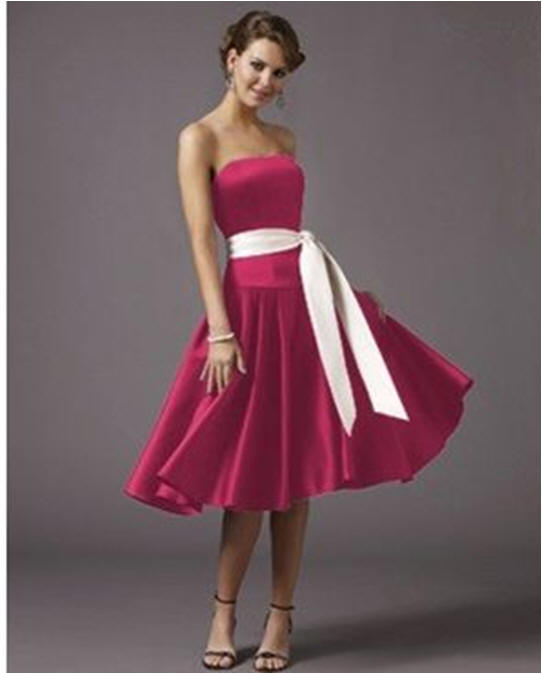 short hot pink bridesmaid dresses $130