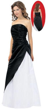 side ruched evening gown