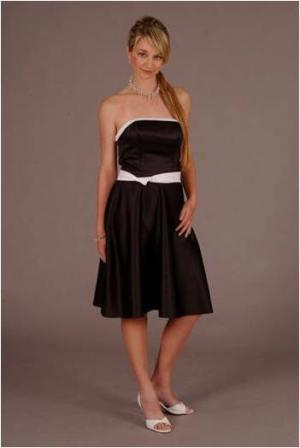 black and white bridesmaid dresses. lack and white prom dress
