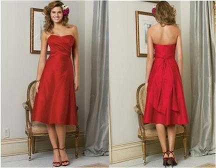 short red bridesmaid dresses