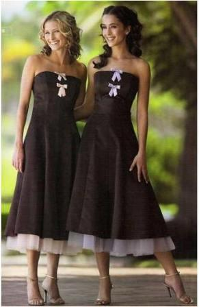 Chocolate brown dresses for bridesmaids and prom for Brown dresses for a wedding
