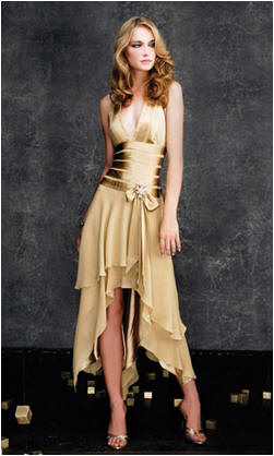 elegant gold halter prom dress