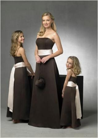 bridesmaid dresses matching flower girl