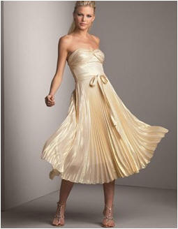 gold evening dress