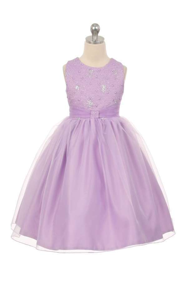 Girls Organza Sparkly Special Occasion Dress