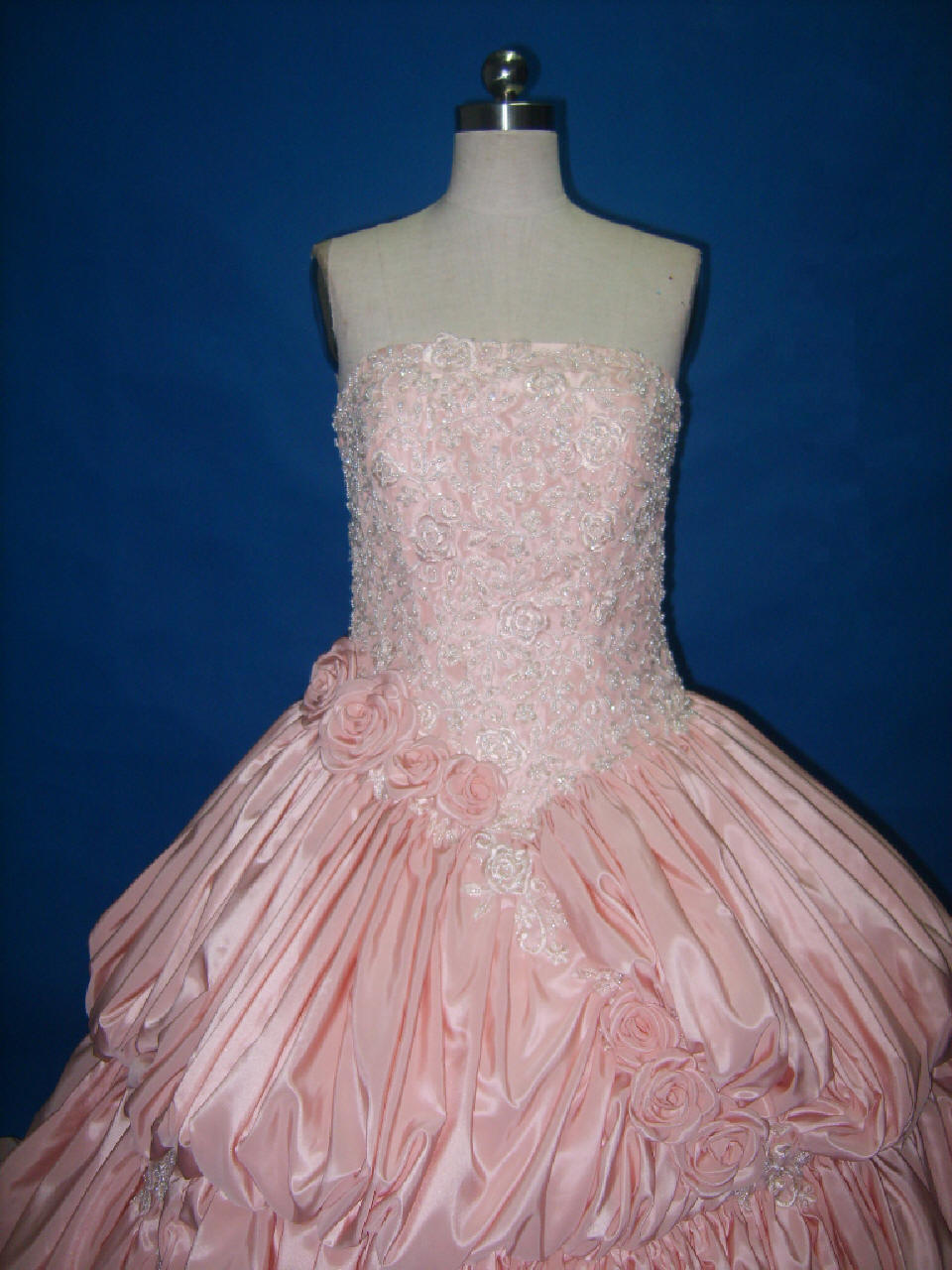 Pink pickup wedding dress ball gown