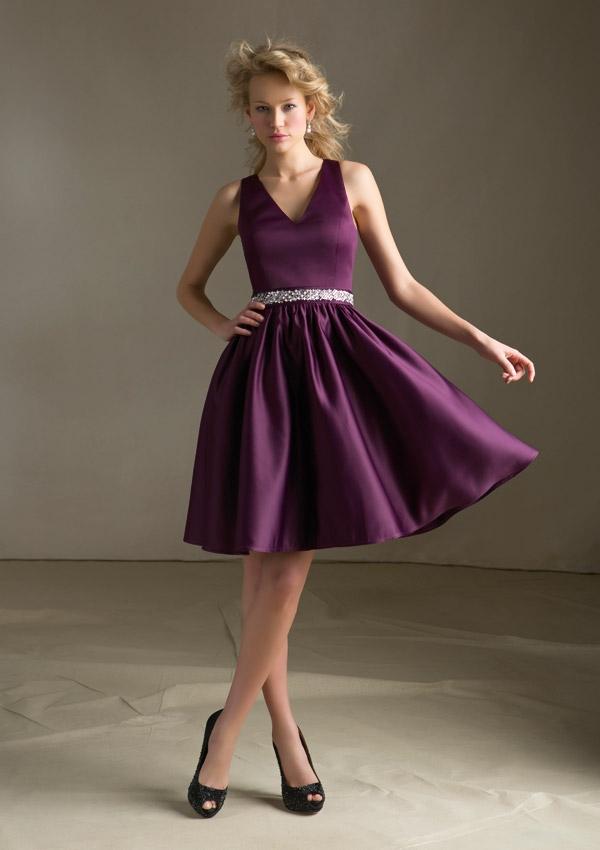 Plum Dress with Sash