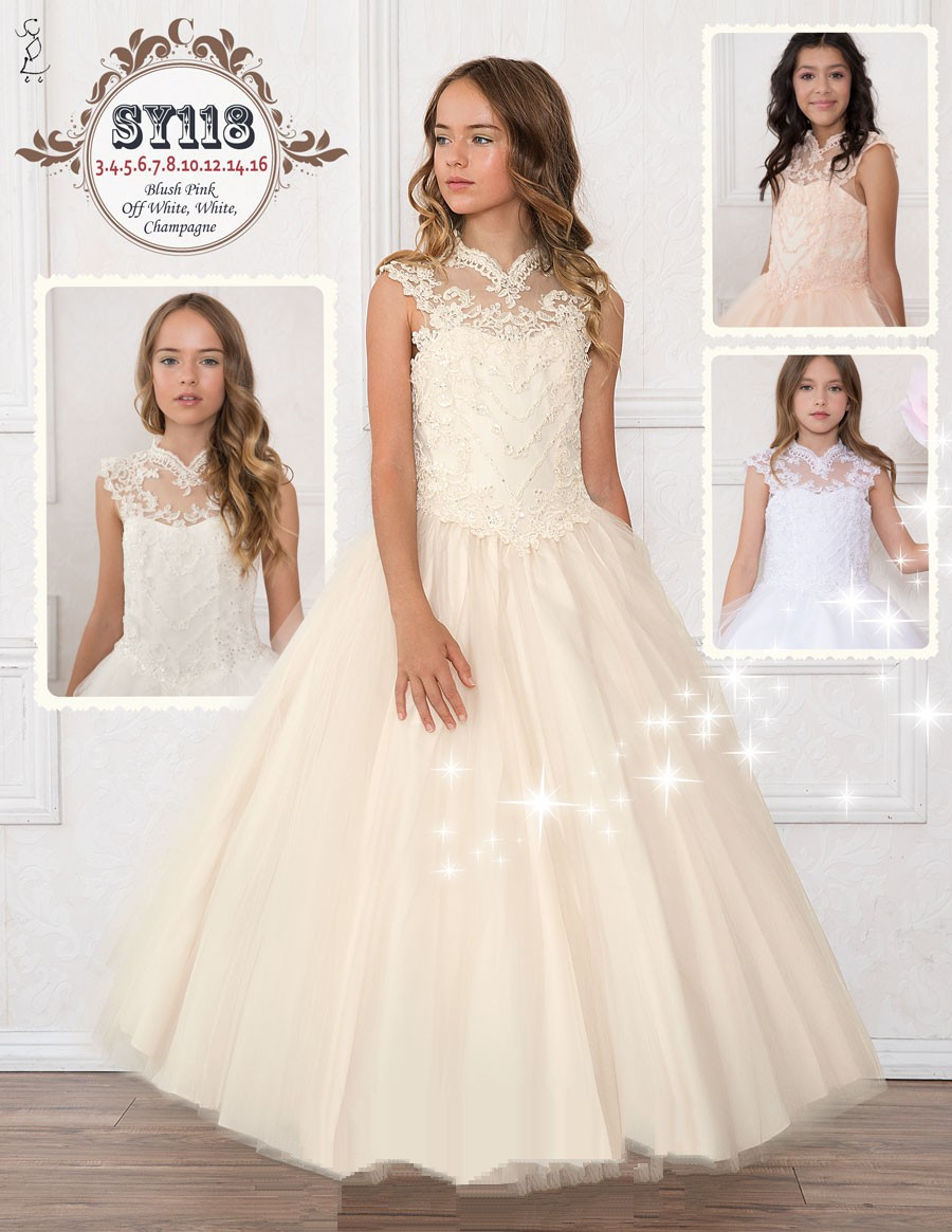 Affordable bridal dresses and miniature bride dresses.
