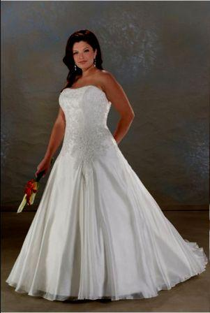 Strapless Corset Plus Size Wedding Gown