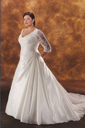 wedding dresses with sleeves plus size. plus size wedding dresses with