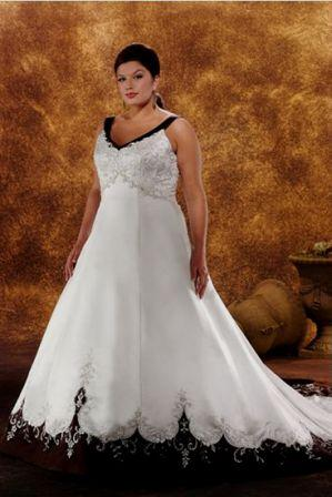 Lovely large bride dresses in custom sizes.