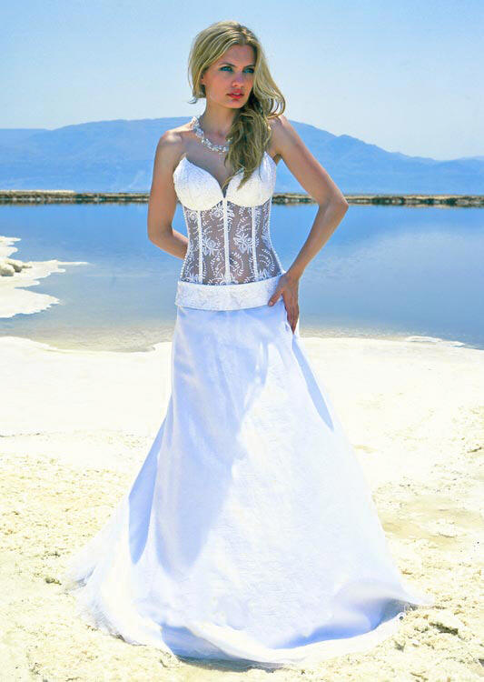 Corset See Through Wedding Dress