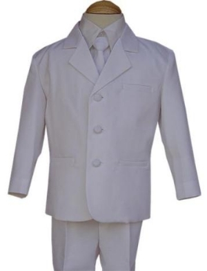 White First Communion Suit
