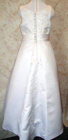 long girls dress with split back