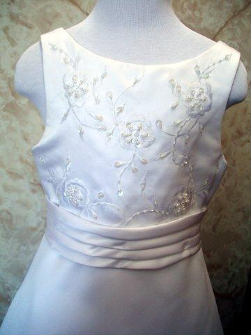 white satin girls dress