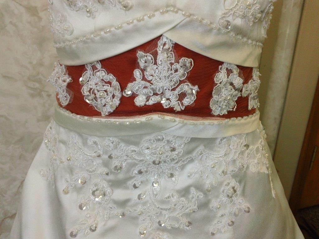 Burnt Orange And White Wedding Dresses