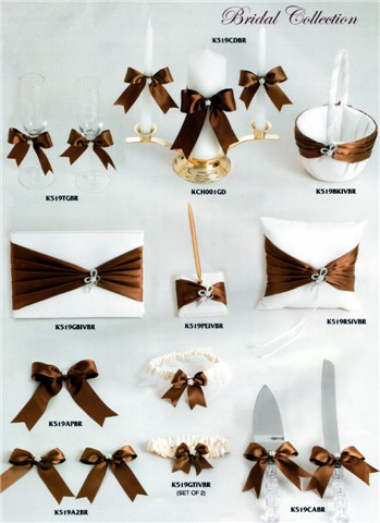 brown wedding ceremony accessories