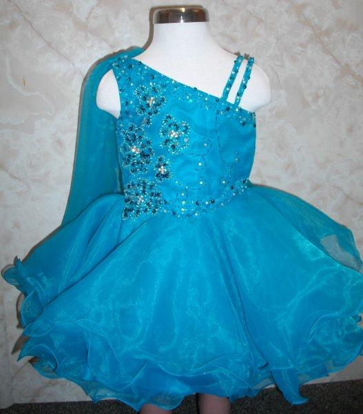 baby pageant dress with the turquoise