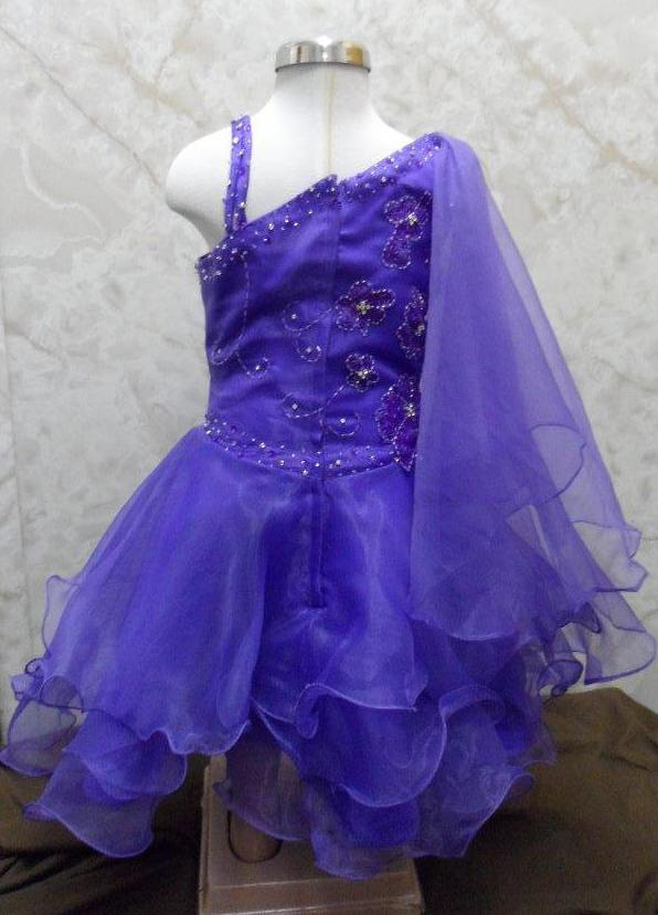 purple toddler pageant dress