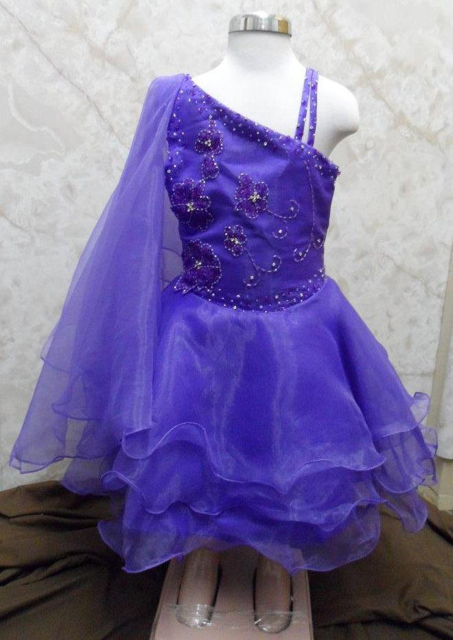 toddler pageant dress with beaded flowers