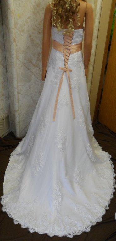 Strapless A Line Wedding Gown Under 300